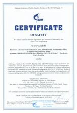 Certificate of safety SynchroVitals II SynchroVitals II