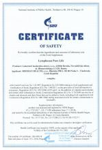 Certificate of safety<br>Lymphosan Pure Life Food supplement Lymphosan Pure Life, 90 g
